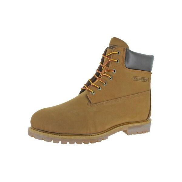 Fuda Mens Work Boots Leather Waterproof - 13 medium (d)