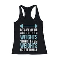 Funny Blue Design Workout Tank Top - All About Them Weight - Gym Clothes