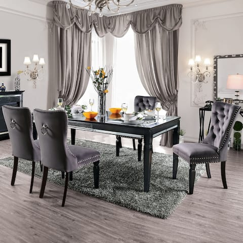 Furniture of America Kroll Traditional Faux Leather 5-piece Dining Set
