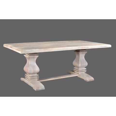 """Maliyah Pedestal Dining Table 76"""""""