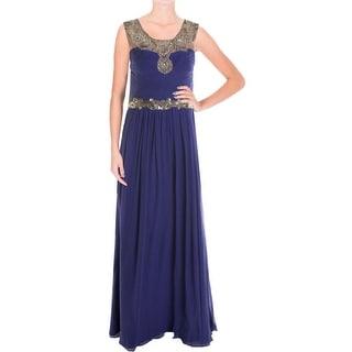 Marchesa Notte Womens Evening Dress Silk Beaded - 4