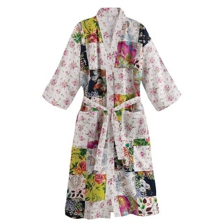 Women's Colorful Garden Floral Patch Robe