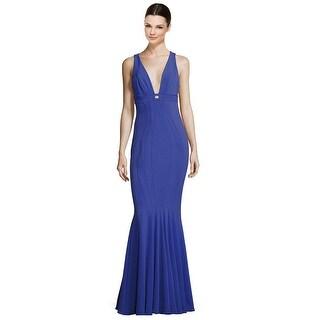 ZAC Zac Posen Ariana Mermaid Jersey Evening Gown Dress - 4