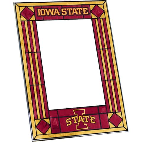 Iowa State Cyclones Art Glass Vertical Picture Frame