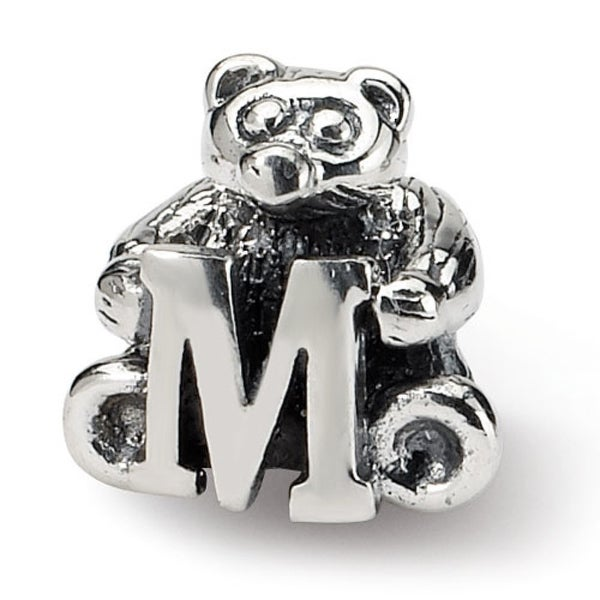 Sterling Silver Reflections Kids Letter M Bead (4mm Diameter Hole)