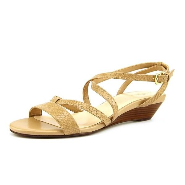 Cole Haan Kierin. Sandal. II Women Open-Toe Leather Nude Slingback Sandal