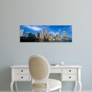 Easy Art Prints Panoramic Images's 'Skyscrapers at the waterfront, Boston, Massachusetts, USA' Premium Canvas Art