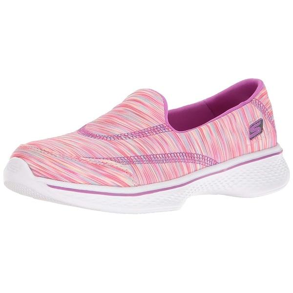 Shop Skechers Kids Girls Go Walk 4 Sporty Stripes Slip On