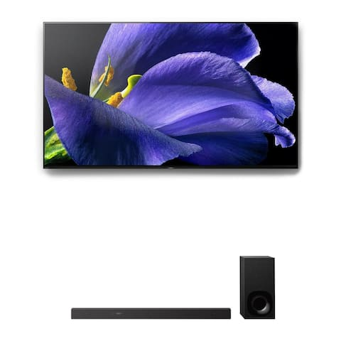 """Sony XBR-55A9G 55"""" BRAVIA OLED 4K UHD HDR TV and HT-Z9F 3.1-Channel Dolby Atmos Sound Bar with Subwoofer"""