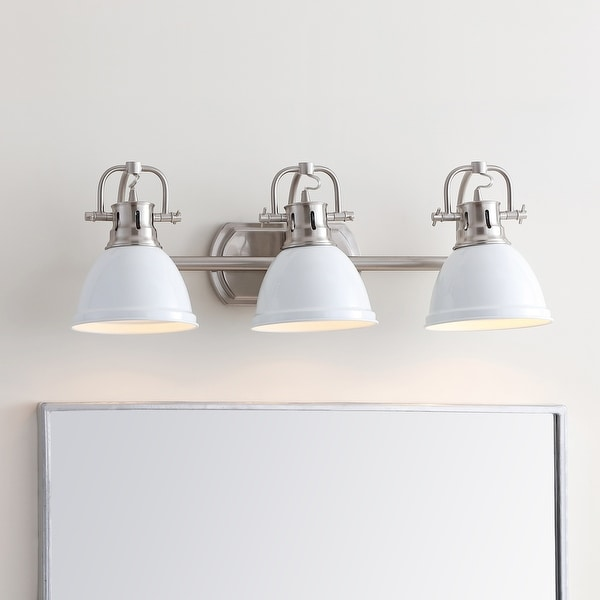 "SAFAVIEH Lighting Roland 3-light LED Bathroom Sconce - 24.3""x7.5""x8.5"". Opens flyout."