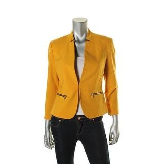 Nine West Womens Zip-Pockets Long Sleeves Jacket