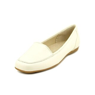 Trotters Fantasy Women N/S Square Toe Leather White Loafer
