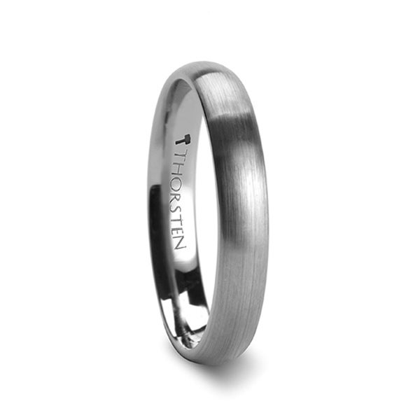 THORSTEN - PERSEUS Domed with Brushed Finish Tungsten Band - 4mm