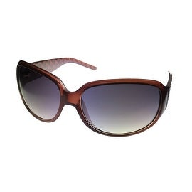 Ellen Tracy Womens Sunglass Brown Plastic Rectangle, Brown Gradient Lens 501 1 - Medium
