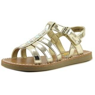 Rachel Shoes Delilah Youth Open-Toe Synthetic Gold Slingback Sandal