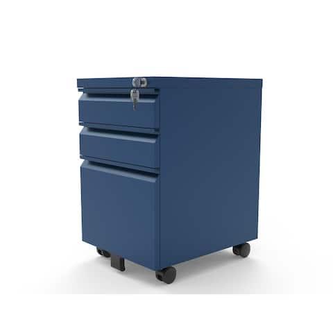 Furniture of America Maddox Matte 3-Drawer Mobile File Cabinet