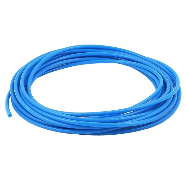 9M Length 6mm x 4mm Dia Polyurethane PU Air Tube Tubing Pipe Hose Blue