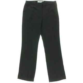 Calvin Klein Womens Petites Solid Stretch Dress Pants