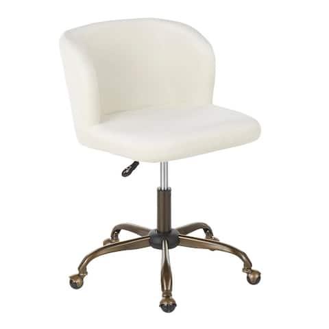 Silver Orchid Harding Velvet Task Chair