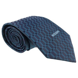Missoni Grid Teal Woven 100% Silk Tie