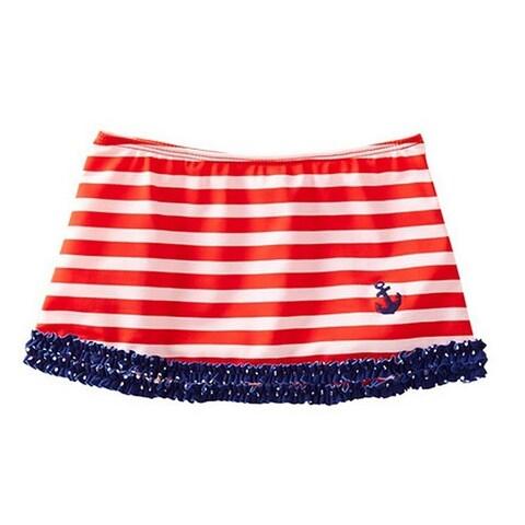 Azul Little Girls Red White Blue Stripe In The Navy Nautical Skirt