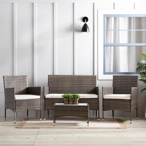 BrooksideIrisRattan Outdoor Seating Setwith Patio Table