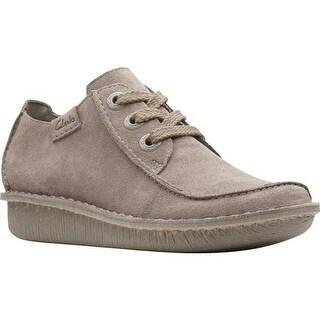 Clarks Women's Funny Dream Lace Up Shoe Sage/Sage Suede