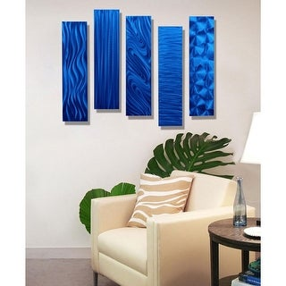 Statements2000 Metal Wall Art Accent Panels by Jon Allen (Set of 5) - 5 Easy Pieces
