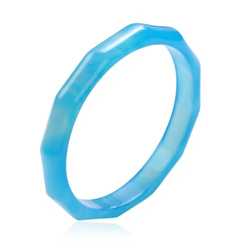 Agate Carved Bangle Cuff Bracelet Jewelry Size 7.5 Inch Ct 110.5 - Bracelet 7.5''
