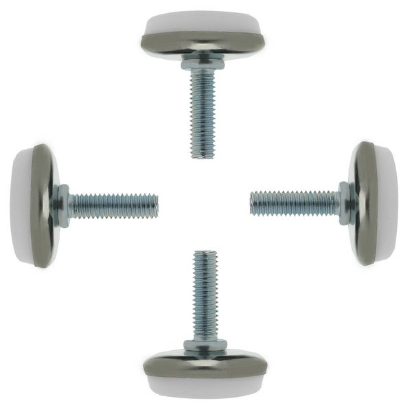 M6 x 20 x 30 Screw on Furniture Glide Leveling Feet Protector Floor Adjustable Leveler for Table Chair Desk Leg 4pcs