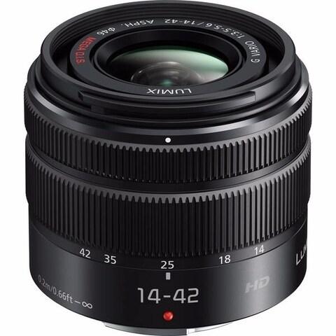 Panasonic Lumix G Vario 14-42mm f/3.5-5.6 II ASPH. MEGA O.I.S. Lens International Model - black