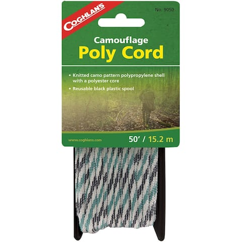 Coghlan's Camouflage Poly Cord, 50' Polypropylene Rope