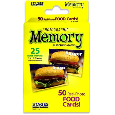 (3 Ea) Food Photographic Memory Matching Game