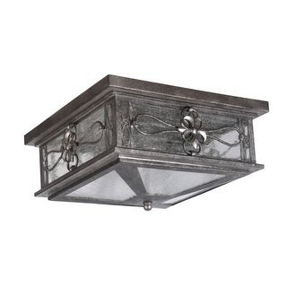 Craftmade Z2317 Edinburgh 2 Light Outdoor Flush Mount Ceiling Fixture - 13 Inches Wide