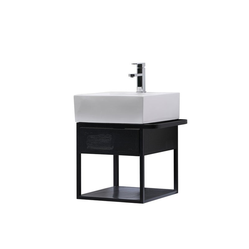 Modern Single Bathroom Wall Mounted Vanity Set 21 Overstock 31686416
