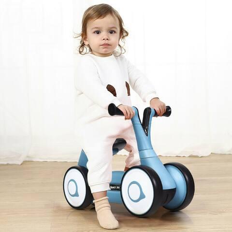 Baby Balance Bike Bicycle Toddler Toys Rides No-Pedal-Blue - Blue