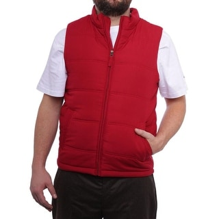 Weatherproof  Full-Zip Puffer Vest Vest Red