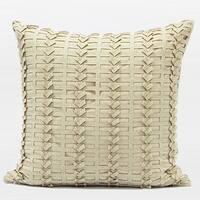 "G Home Collection Luxury Beige Handmade Textured Pillow 18""X18"""