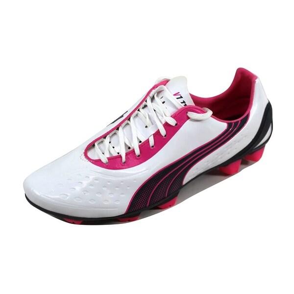 Puma Men's V1 11 SL White/Navy-Pink 102324 05