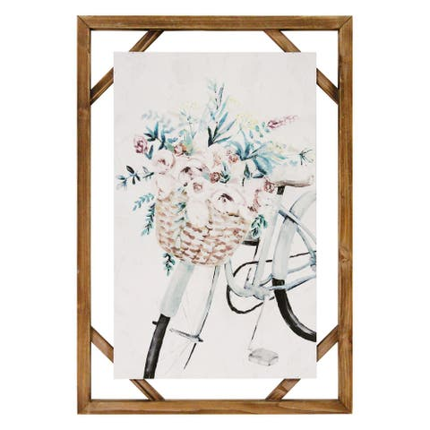 Stratton Home Decor Decorative Shabby Chic Bike Wall Art - Multi