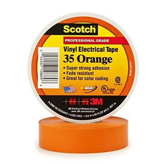 3M 10869-DL-5 Vinyl Electrical Tape - Orange Scotch Vinyl Electrical Tape