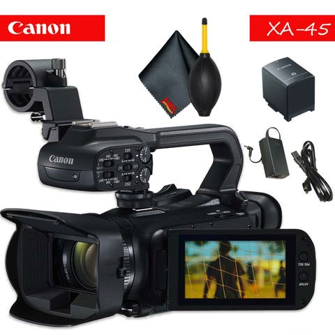 Canon XA45 Professional UHD 4K Camcorder with Accessory Bundle