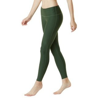 Tesla FYP41 Women's Mid-Waist Ultra-Stretch Yoga Pants - Solid Olive