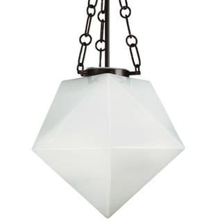 "Park Harbor PHPL5521 14"" Wide Single Light Foyer Pendant with Geometric Shade"