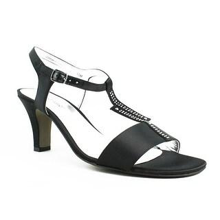 David Tate Womens Stargaze-001 Black T-Strap Sandals Size 10