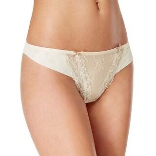 Heidi Klum Intimates Womens Amelie Retro Cream Thong Underwear
