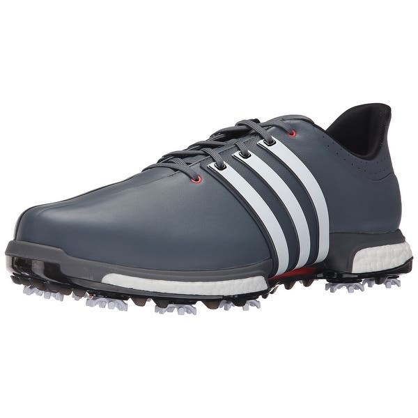 Shop Adidas Men S Tour 360 Boost Onix White Shock Red Golf Shoes F33253 F33265 Medium Width Overstock 18696317