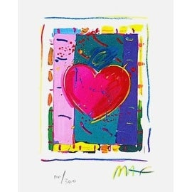 "Heart Series IV, Ltd Ed Lithograph (Mini 5"" x 4""), Peter Max"
