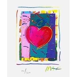 "Heart Series IV, Ltd Ed Lithograph (Mini 5"" x 4""), Peter Max"