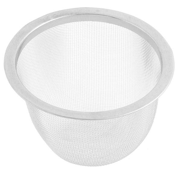 Stainless Steel Tea Waste Mesh Drainer Basin Filter Strainer Infuser 70mm Dia Silver On Sale Overstock 18404980
